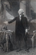 Prints, GENERAL WASHINGTON. 19th century. Engraving. 21-1/2 x 14inches (54.6 x 35.6 cm. Elton Hyder III Collectio...