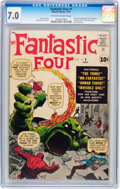 Silver Age (1956-1969):Superhero, Fantastic Four #1 (Marvel, 1961) CGC FN/VF 7.0 Off-white to whitepages....