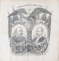 Prints, A PUBLIC OFFICE IS A PUBLIC TRUST. 19th century. 19-1/2 x 20inches (49.5 x 50.8 cm). Campaign Bandana, Pres...