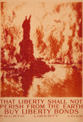 "Prints, JOSEPH PENNELL (1857-1926). ""That Liberty Shall Not Perish Fromthe Earth"". Color lithograph. 31-1/2 x 21-3/4 inches (80..."