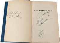 """A John Wayne and Others Signed Book """"Wake of the Red Witch."""""""
