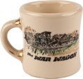 "Movie/TV Memorabilia:Autographs and Signed Items, A John Wayne-Related Coffee Mug from ""The War Wagon.""..."