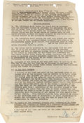 Movie/TV Memorabilia:Autographs and Signed Items, A Marx Brothers Contract, 1950. ...