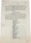 Movie/TV Memorabilia:Autographs and Signed Items, An Orson Welles Signed Contract, 1946....