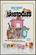 "Movie Posters:Animation, The Aristocats (Buena Vista, 1971). One Sheet (27"" X 41"") FlatFolded. Animation.. ..."