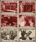 """Movie Posters:Serial, The Black Coin (Stage and Screen Productions, 1936). Lobby Cards (6) (11"""" X 14"""") Chapter 3 -- 'The Fatal Plunge,"""" and Chapte... (Total: 6 Items)"""