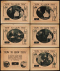 """Movie Posters:Documentary, How to Grow Thin (Educational Film Exchanges, 1922). Title Lobby Card & Lobby Cards (5) (11"""" X 14""""). Documentary.. ... (Total: 6 Items)"""