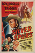 "Movie Posters:Western, Silver Spurs (Republic, 1943). One Sheet (27"" X 41""). Western.. ..."