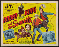 "Rodeo King and the Senorita (Republic, 1951). Half Sheet (22"" X 28"") & Lobby Card Set of 8 (11"" X..."