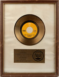 "Music Memorabilia:Awards, Redbone ""Come And Get Your Love"" RIAA Gold Record Sales Award(1974). ..."