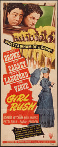 "Movie Posters:Comedy, Girl Rush (RKO, 1944). Insert (14"" X 36""). Comedy.. ..."
