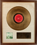 Music Memorabilia:Awards, Barbra Streisand Stoney End RIAA Gold Record Sales AwardCirca 1971....