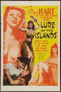 """Movie Posters:Adventure, Lure of the Islands (R-1950). One Sheet (27"""" X 41"""") Style C.Adventure.. ..."""