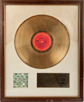Music Memorabilia:Awards, Chicago III RIAA Gold Record Award Circa 1971....