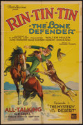 "Movie Posters:Serial, The Lone Defender (Mascot, 1930). One Sheet (27"" X 41"") Chapter 1-- ""The Mystery of the Desert."" Serial.. ..."