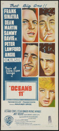 "Movie Posters:Crime, Ocean's 11 (Warner Brothers, 1960). Australian Daybill (13"" X 30"").Crime.. ..."