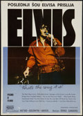 "Movie Posters:Elvis Presley, Elvis: That's the Way It Is (MGM, 1970). Yugoslavian Poster (19.5"" X 27.5""). Elvis Presley.. ..."