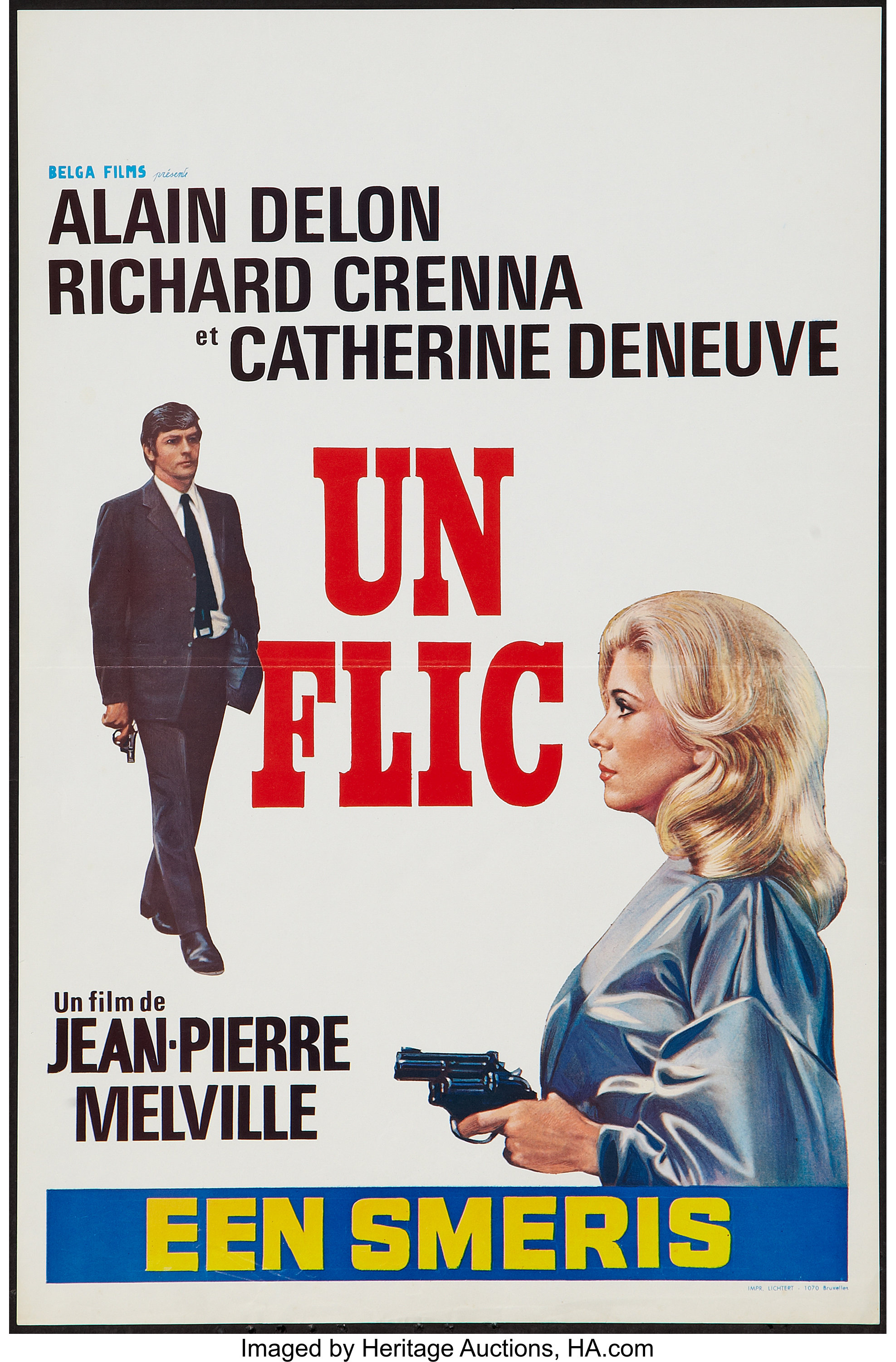 Dirty money Alain Delon Vintage French movie poster