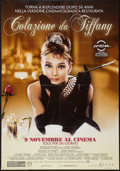 "Movie Posters:Romance, Breakfast at Tiffany's (Paramount, R-2011). Italian 2 - Foglio (38"" X 55""). 50th Anniversary. Romance.. ..."