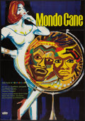 "Movie Posters:Exploitation, Mondo Cane (Europa Filmverlieh, 1963). German A0 (33"" X 46.5"").Exploitation.. ..."