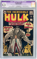Silver Age (1956-1969):Superhero, The Incredible Hulk #1 (Marvel, 1962) CGC Apparent VG+ 4.5 Slight(A) Off-white to white pages....
