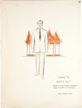 "Movie/TV Memorabilia:Autographs and Signed Items, A Marlon Brando Costume Design Sketch from ""The Ugly American.""..."