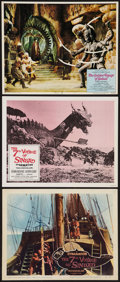 """Movie Posters:Fantasy, The 7th Voyage of Sinbad & Other Lot (Columbia, 1958 & R-1971). Lobby Cards (3) (11"""" X 14""""). Fantasy.. ... (Total: 3 Items)"""
