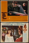 "Movie Posters:Horror, Brides of Dracula & Other Lot (Universal International, 1960). Lobby Cards (2) (10"" X 14"" & 11"" X 14""). Horror.. ... (Total: 2 Items)"