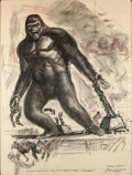 "Movie/TV Memorabilia:Autographs and Signed Items, An Original Concept Drawing from ""King Kong.""..."