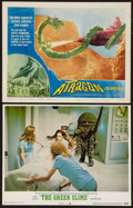 "Movie Posters:Science Fiction, The Green Slime and Other Lot (MGM, 1969). Lobby Cards (2) (11"" X14""). Science Fiction.. ... (Total: 2 Items)"