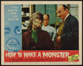 """Movie Posters:Horror, How to Make a Monster (American International, 1958). Autographed Lobby Card (11"""" X 14""""). Horror.. ..."""