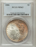 Morgan Dollars: , 1886 $1 MS63 PCGS. PCGS Population (33102/55623). NGC Census: (28059/74285). Mintage: 19,963,886. Numismedia Wsl. Price for...