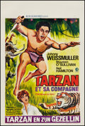 "Movie Posters:Adventure, Tarzan and His Mate (MGM, R- Late 1960s). Belgian (14.5"" X 21.5"").Adventure.. ..."