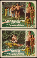 "Movie Posters:Adventure, Tarzan and the Leopard Woman (RKO, 1946). Lobby Cards (2) (11"" X14""). Adventure.. ... (Total: 2 Items)"