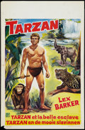 "Movie Posters:Adventure, Tarzan and the Slave Girl (RKO, 1950). Belgian (14"" X 21.5"").Adventure.. ..."