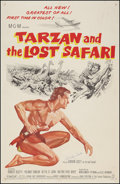 "Movie Posters:Adventure, Tarzan and the Lost Safari (MGM, 1957). Autographed One Sheet (27""X 41""). Adventure.. ..."