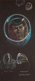 """Movie/TV Memorabilia:Autographs and Signed Items, An Original Concept Drawing from """"Star Trek: The MotionPicture.""""..."""