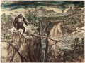 "Movie/TV Memorabilia:Autographs and Signed Items, A Concept Work by Mentor Huebner from ""King Kong.""..."