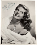 Movie/TV Memorabilia:Autographs and Signed Items, A Rita Hayworth Signed Black and White Photograph, Circa 1946....