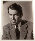 Movie/TV Memorabilia:Autographs and Signed Items, A Jimmy Stewart Signed Black and White Photograph, Circa 1955....