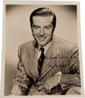 Movie/TV Memorabilia:Autographs and Signed Items, A Ray Milland Signed Black and White Photograph, Circa 1950....