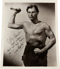 Movie/TV Memorabilia:Autographs and Signed Items, A Lex Barker Signed Black and White Photograph, Circa 1950....