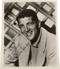 Movie/TV Memorabilia:Autographs and Signed Items, A Dean Martin Signed Black and White Photograph, Circa 1955....