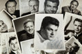 Movie/TV Memorabilia:Autographs and Signed Items, A Male Movie Star Group of Signed Black and White Photographs,1950s-1960s....