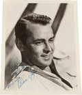 Movie/TV Memorabilia:Autographs and Signed Items, An Alan Ladd Signed Black and White Photograph, Circa 1950....