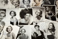 Movie/TV Memorabilia:Autographs and Signed Items, A Female Movie Star Group of Signed Black and White Photographs,1950s-1960s....