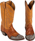 """Movie/TV Memorabilia:Costumes, A Robert Redford Pair of Boots from """"The Electric Horseman.""""..."""