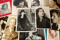 A Large Collection of Black and White Headshots and Stills from 'Cinema Art' Magazine, 1920s