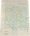 Movie/TV Memorabilia:Documents, A Marilyn Monroe-Received Letter from Eunice Murray, 1962....