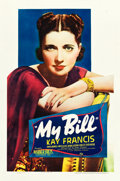 "Movie Posters:Drama, My Bill (Warner Brothers, 1938). One Sheet (27"" X 41"").. ..."